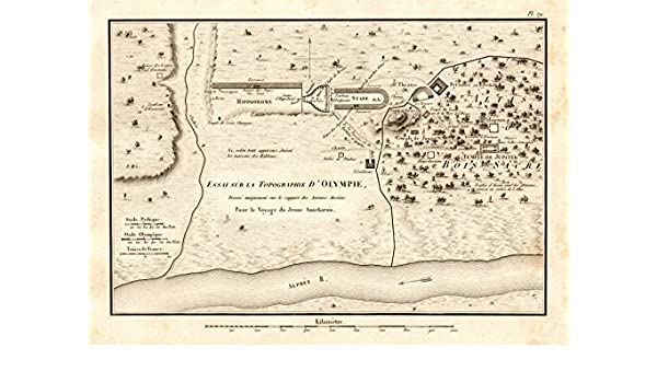Olympia Fils Halloween 2020 Amazon.com: OLYMPIA GREECE plan.La topographie d'Olympie. Ancient