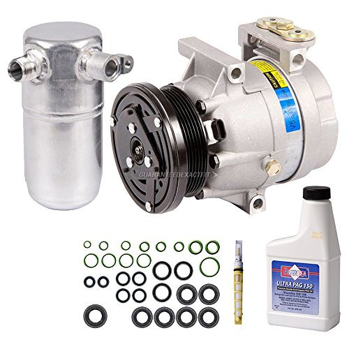 New AC Compressor & Clutch With Complete A/C Repair Kit For Chevy Olds Pontiac - BuyAutoParts 60-80377RK (Alero Compressor)