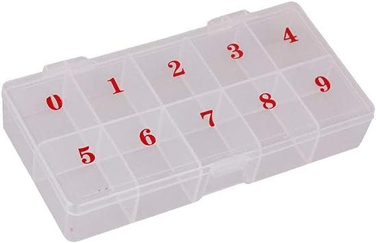 Caja organizadora de plástico con 10 compartimentos y números ...