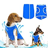 Ranphy Small Dog Cooling Vest Reusable Swamp Cooler Jacket Lightweight Pet Cool Coat for Summer Hot Weather Blue Size XS