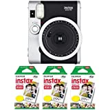Fujifilm FU64-INSM9K030 Fujifilm INSTAX MINI 90 NEO CLASSIC Camera and Film Kit, 30 Exposures (Black/ Silver)