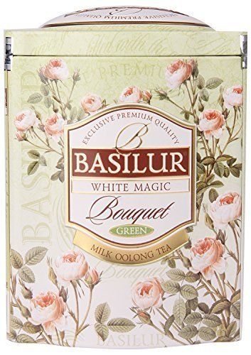 Exclusive Premium Green tea White Magic from Bouquet Collection in Metal Box , 100g by Basilur - Exclusive Magic Collection