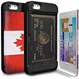 iPhone 5 Case, TORU [CX PRO] iPhone SE Wallet Case - [CARD SLOT][ID HOLDER][KICKSTAND][DESIGNER PATTERN] Protective Hidden Wallet Case with Mirror for iPhone 5/5S/SE - Canada Flag