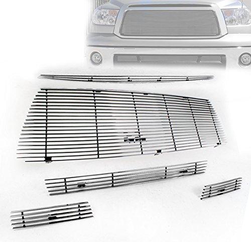 ZMAUTOPARTS Toyota Tundra Front Hood Scoop + Upper + Bumper Billet Grille Insert (Upper Billet Grille Hood Scoop)