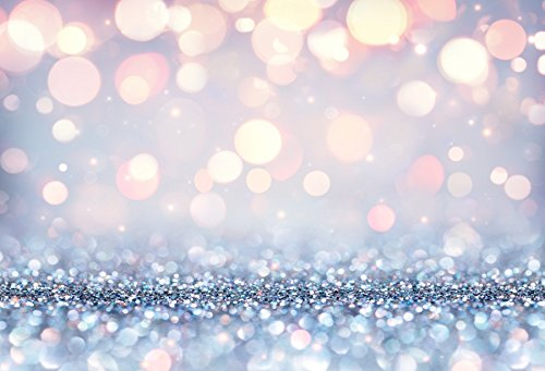 Price comparison product image Yeele Glitter Backdrops 8x6ft / 2.4 X 1.8M Silver Orange Sand Blurry Spots Sequins Particles Circles Mosaic Bokeh Adult Artistic Portrait Photoshoot Props Flash Background for Photography
