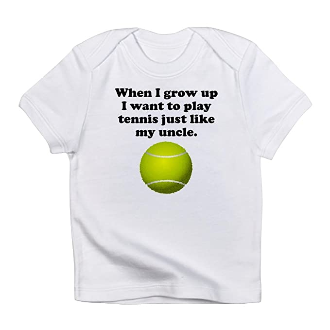 3ebe67daec Amazon.com: CafePress - Play Tennis Like My Uncle - Cute Infant T ...