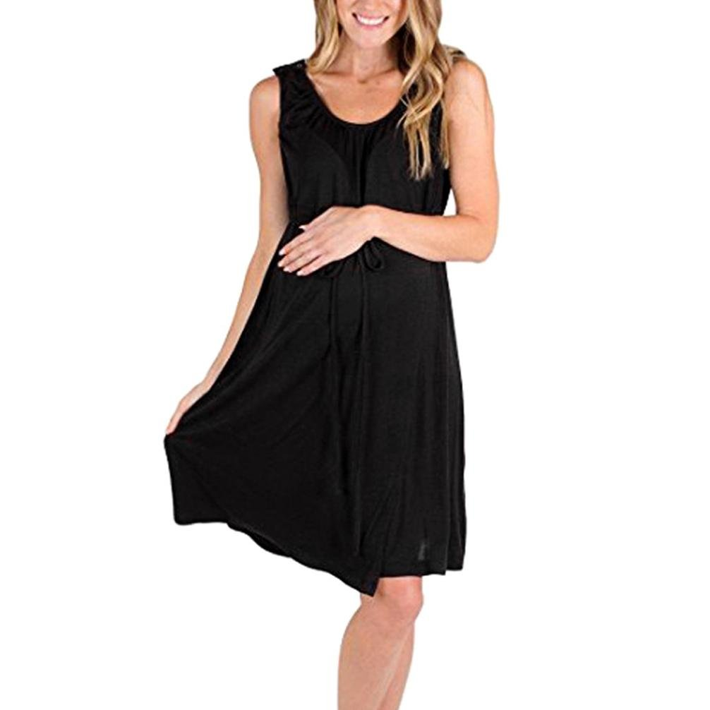 Voberry@ 3 in 1 Labor/Delivery/Nursing Hospital Gown Maternity,, Hospital Bag Must Have(XL, Black)