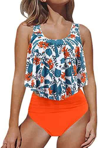 e962eb43a96 (21) Views. RUUHEE Women Off Shoulder High Waisted Tropical Strapless ...