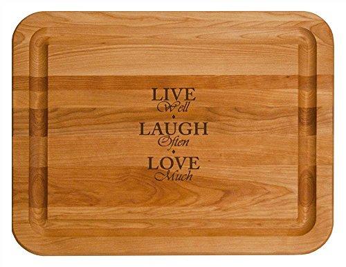 (Catskill Craftsmen Live, Laugh, Love Hardwood Cutting Board, 19