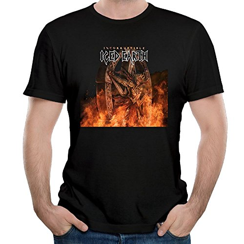 Ulongpoq Men's Iced Earth Incorruptible Cotton T-Shirt Black 5XL ()