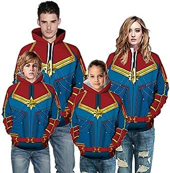 Captain Marvel Sudadera con Capucha de los Vengadores Cosplay ...