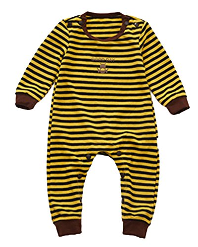 Kidsform Unisex Baby Halloween Costume Cosplay Animal Ladybug Flannel Romper Pajamas Outfits Dress Up Hoodie Jumpsuit Yellow 12-18M by Kidsform (Image #2)