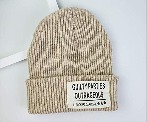(SAYGOGO Knitted Rib Bean Hat, Basic Solid Color Knit Hat,)