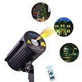 BETOPPER Outdoor Laser Christmas Light Projector with IR Wireless Remote, Red and Green Star Laser Show, Aluminum Alloy Case for Christmas, Holiday, Parties, Landscape, Garden Decoration