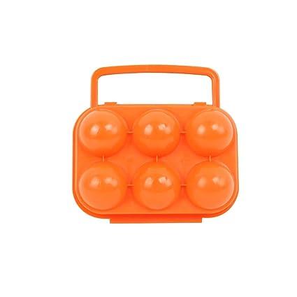 VORCOOL Portador de huevo portátil 6 contenedores de cajas de huevos para el campamento de cocina