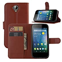 Acer Z330 Case, ANGELLA-M Retro Litchi Texture Wallet Stand Case PU Leather Flip Protective Case Cover For Acer Liquid Z330 Z320 M330 - Brown