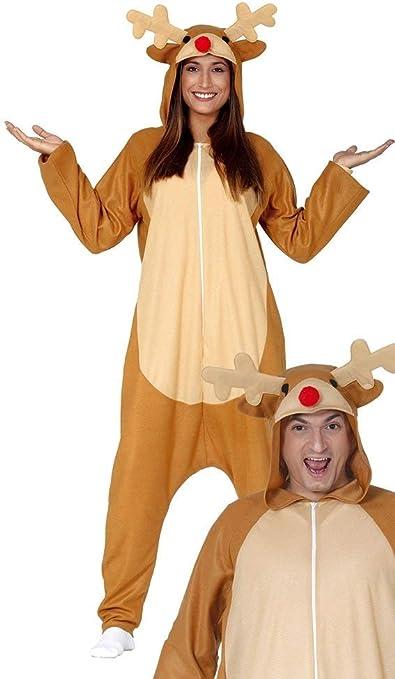 GUIRMA Traje de Reno Pijama Santa Claus Mono Rudolph Hombre Mujer ...