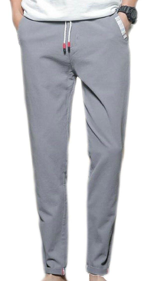 ouxiuli Mens Fashion Closed Bottom Sweatpants Drawstring Joggers Pants