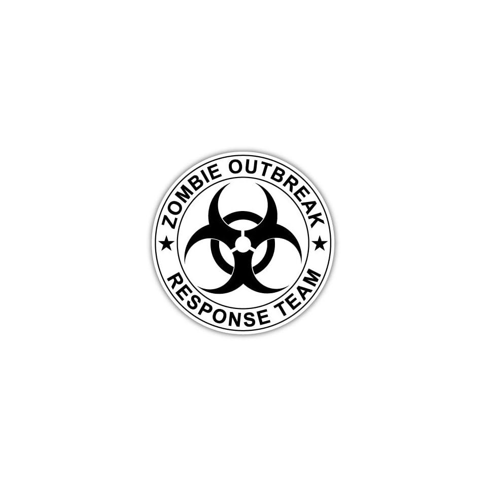 Zombie Outbreak Response Team Vinyl Car Bumper Sticker Decal 5 X 5
