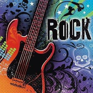 Rock Beverage Napkins - AMSCAN INC. Rock Star Beverage Napkins
