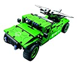 Bo Toys R/C Military SUV UAV carrier with Aerial Drone Building Bricks Radio Control Toy, 506 Pcs off road car Kit with USB Rechargeable Battery, Construction Build It Yourself Toys