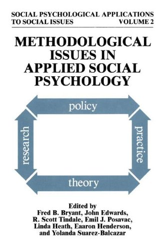 Books : Methodological Issues in Applied Social Psychology (Social Psychological Applications To Social Issues)