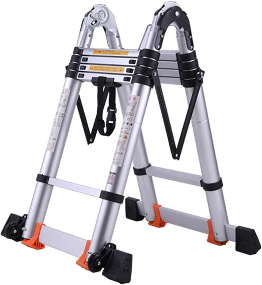 Escaleras Telescópicas Escalera de extensión de aluminio resistente, escalera telescópica de ingeniería multi propósito portátil para carga Loft, capacidad de 330 lbs. (Size : 2.9m/9.5ft): Amazon.es: Bricolaje y herramientas