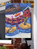 Winter Wonder Snowman Birdhouse Large Flag For Sale
