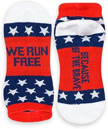 インスピレーションAthletic Running Socks |レディースWovenローカット| Inspirationalスローガン| over 25スタイル
