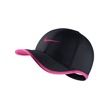 Image Unavailable. Image not available for. Colour  Nike Youth s Unisex Dri-Fit  Featherlight Tennis Hat Black Vivid-Pink One Size b9010907c5cc