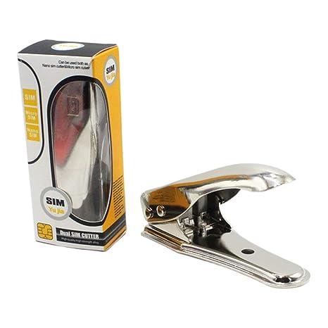 Trifycore Acero Inoxidable Universal con Dos Nano SIM Cortador de la Tarjeta para el iPhone 4 5 6 5S teléfono Celular, Micro Sim Cortador de la ...