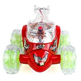 Toysery Invincible Turbo Twister Remote Control Tornado Stunt Car LED Flashing Lights and Musics Battery Operated Vehicle Toy (Colors May Vary)