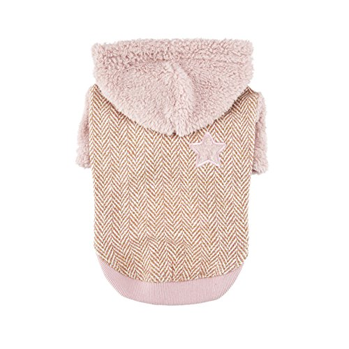 Puppia Authentic Polaris Hoodie, X-Large, Pink by Puppia