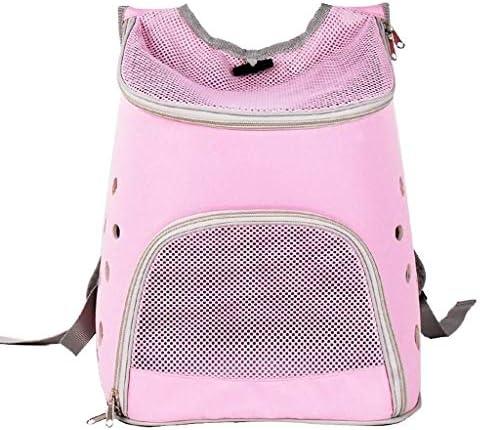 LEOO キャットバックパックペットアウトバッグ肩ペットバッグポータブルドッグバッグキャットバッグスペースカプセル旅行、ハイキング、アウトドア用 (Color : Pink)
