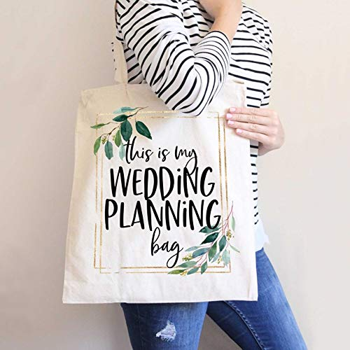 Wedding Planning Tote Bag for Bride or Bridal Shower Gift, Canvas Tote Bag for Bride to Be, Gift for Wedding Planner Gift