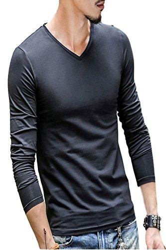 【 どう着ても キマる 】[エムシービーエム] メンズ Tシャツ 2枚セット 長袖 ロンT ロングTシャツ 肌着 七分 丈 袖 インナー シャツ 部屋着 無地 カットソー クルーネック Vネック Uネック ラウンドネック 黒 白 2枚セット カジュアル