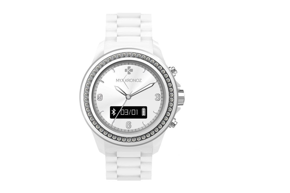 MyKronoz ZeClock OLED 65g Plata, Color Blanco: Amazon.es ...