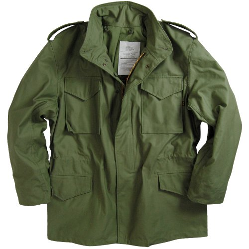 (Alpha Industries Men's M-65 Field Coat,Olive Green,Large)