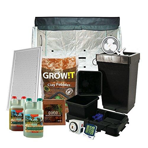 "51yZUiZI95L - LowPro 3 x 3 (39""x39""x37"") Grow Tent Kit Complete LED + AutoPot Hydroponics System & Nutrients Package"