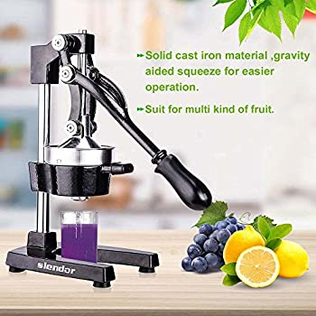 Commercial Citrus Juicer Orange Manual Juice Squeezer Heavy Duty Fruit Presser For Pomegranate Lime Grapefruit Juice Stainless Steel Extractor Cast Iron ...