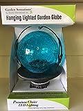 Garden Sensations Hanging Lighted Garden Ball - Blue
