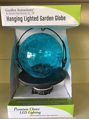 Garden Sensations Hanging Lighted Garden Ball - Blue by Universal Leather