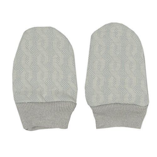 Kissy Kissy Unisex Baby Cable Couture Jacquard Mitt - Silver-One Size Pima Cotton Cable