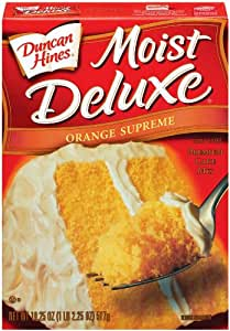 Amazon Com Duncan Hines Signature Orange Cake Mix 18 25