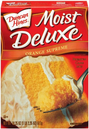 Duncan Hines Signature Orange Cake Mix, 18.25-Ounce Boxes (Pack of 6)