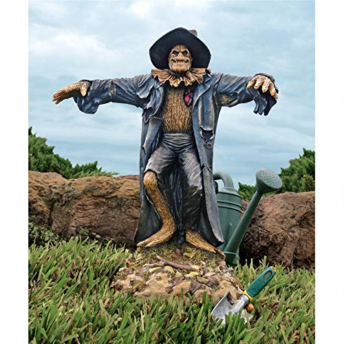 Design Toscano Harvest of Evil Zombie Scarecrow Garden Statue - Halloween Decoration]()