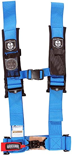 "Pro Armor 4 Point 3/"" Seat Belt Harness PAIR BYPASS RED Commander Maverick"
