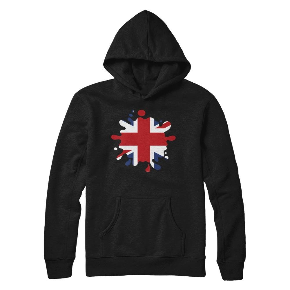 Pullover Hoodie Teely Shop Womens Super Panama hearts United Kingdom Patriot British Flag Gildan