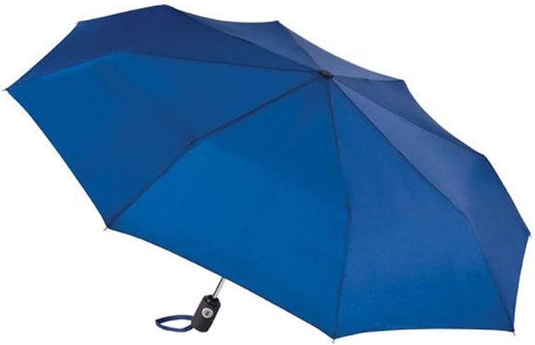 Totes Auto Open Auto Close Umbrella ~ 43 Arc ~ Fits in Travel Bag Color Dark Royal Blue