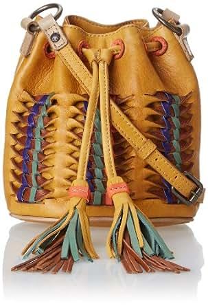 FRYE Heather Small Bucket Cross Body Mustard Soft Vintage Leather One Size